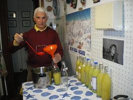 Preparazione limoncello 2009