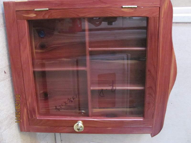 Handmade Wooden Wall Curio Cabinet (New Orleans area and surrounding
