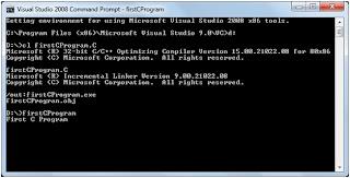 Run C Program using Visual Studio 2008