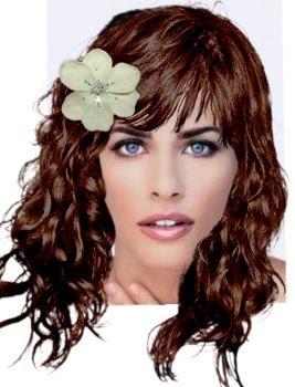 Makeover Solutions Virtual Hair Styles Amanda Peet Long Curly Hairstyle With Flower