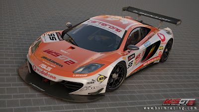 preview mod wsgt2 McLaren MP4-12C GT para rFactor 2