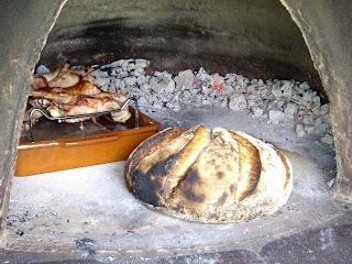 pan integral de estreno en horno de lea
