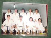 Junto a alumnos en el Dojo