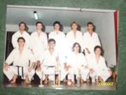 Junto a alumnos en el Dojo