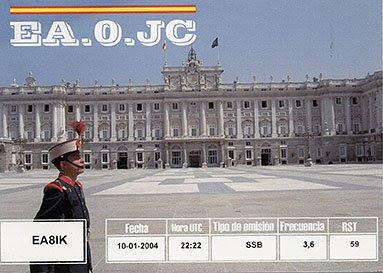 Mi QSL del Rey Juan Carlos I