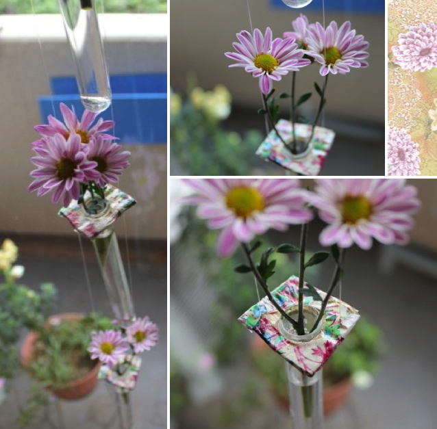 Bluet Clover Hanging Vases Diy