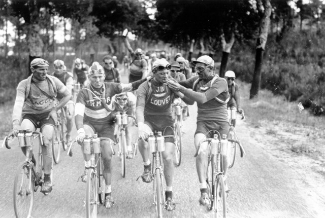 Old skool pro cyclists