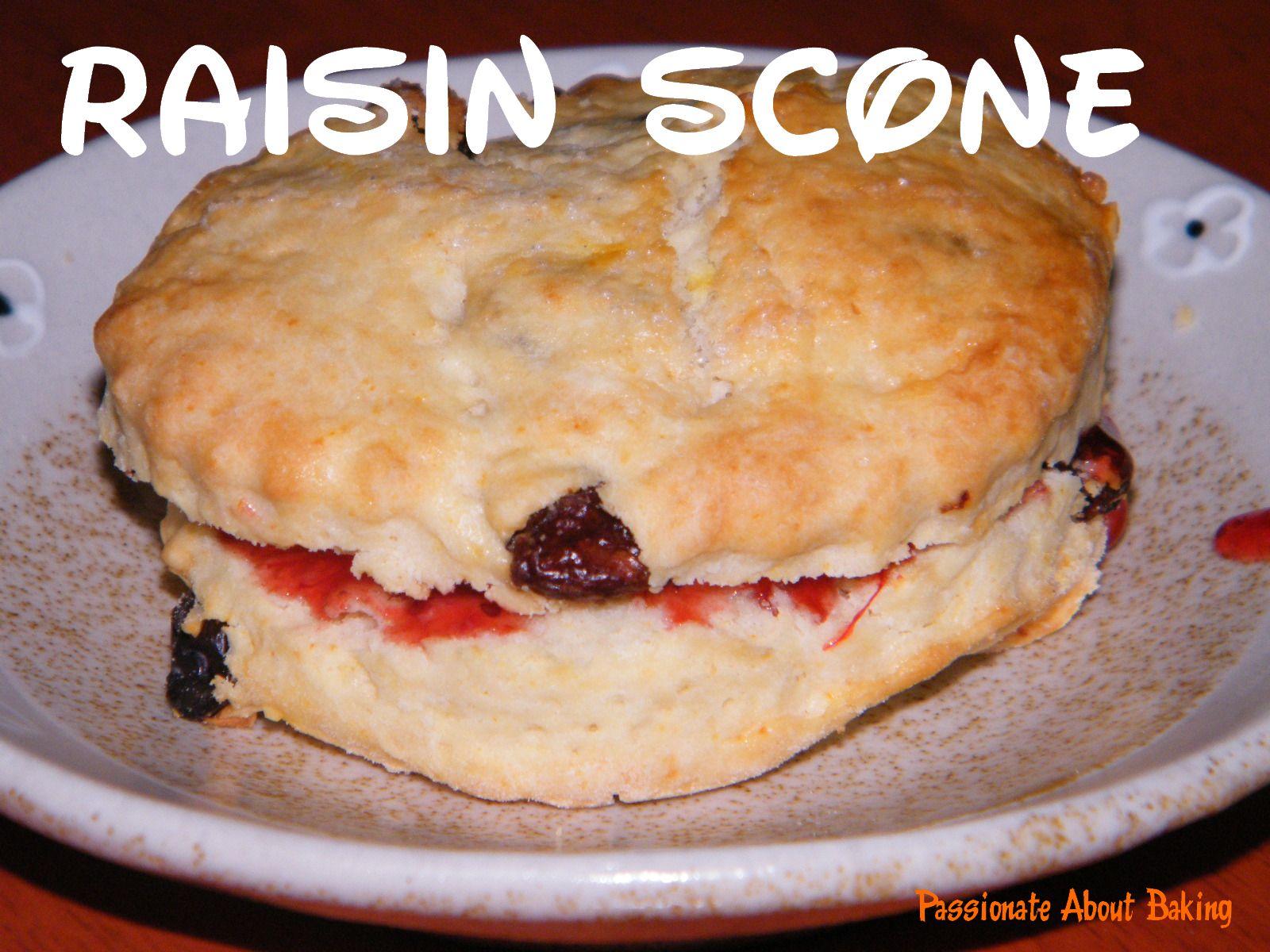 Raisin Scones | Passionate About Baking