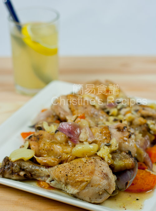 Roasted Chicken Drumsticks with Garlic and Sweet Potato01