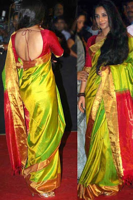 Vidya balan in Backless Sari