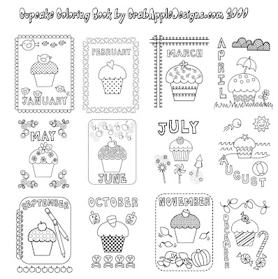 At Home With Crab Apple Designs: Cupcake Coloring Book is Ready for You!