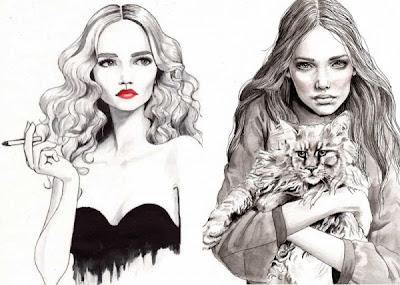 Vintage Fashion Sketches on Memoirs Of Style  Myltan Fashion Illustrations