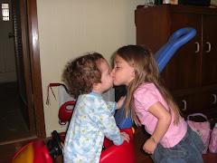 Noah's first kiss!