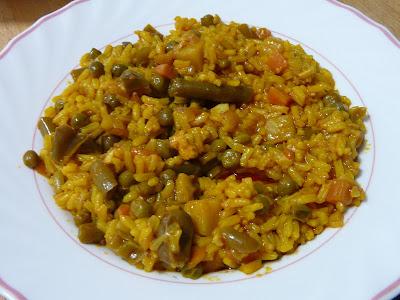 El buen yantar de sefa arroz con verduras - Arroz con pescado y verduras ...