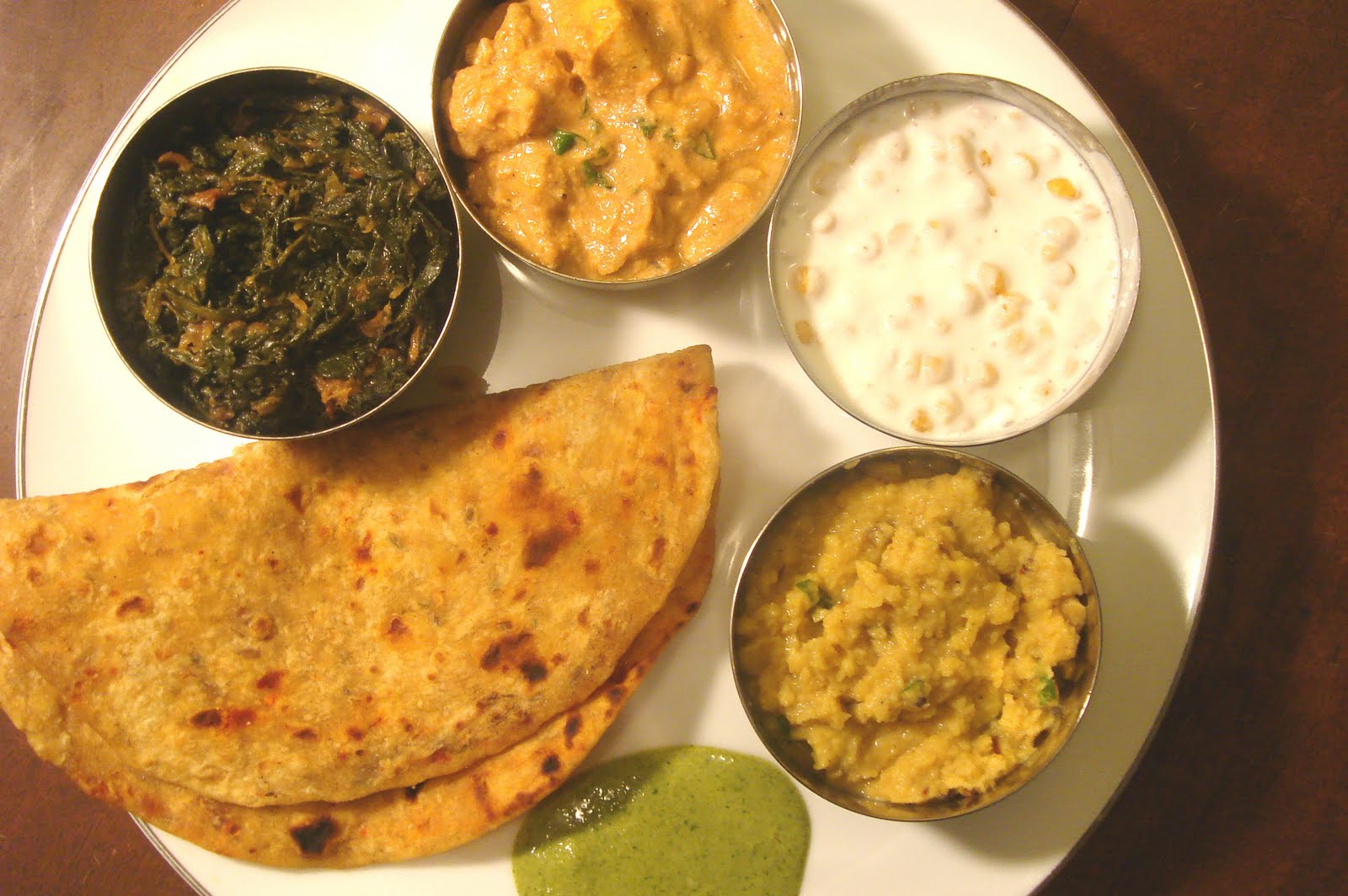 Traditional North Indian Meal