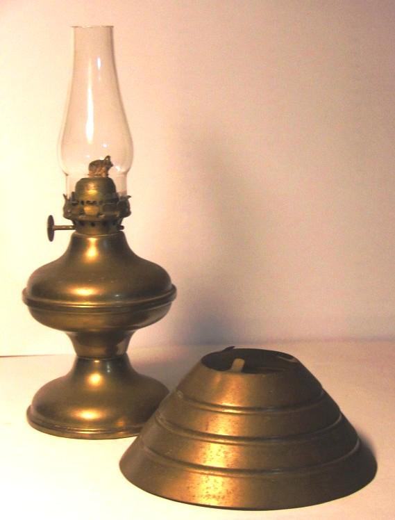 for old time 39 s sake antique brass oil lamp chimney shade base. Black Bedroom Furniture Sets. Home Design Ideas