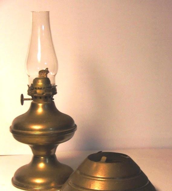 For Old Time's Sake: Antique Brass Oil Lamp Chimney Shade Base