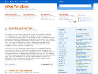 Preview Tema Blogging Pro