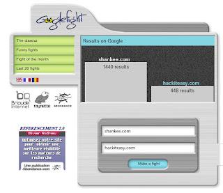 Google fight shankee.com hackiteasy.com results