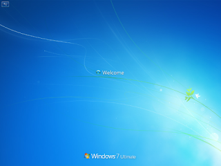 Windows 7 welcome screen that hangs up