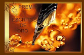"Premio Escritos de Oro desde el blog ""Cosecha de Sentires"""