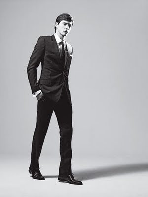 dior homme black suit