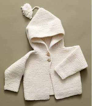 Knitting Pattern Numbers In Brackets : Knitsies Knews: Knitted Garter Stitch Infant Hoodie