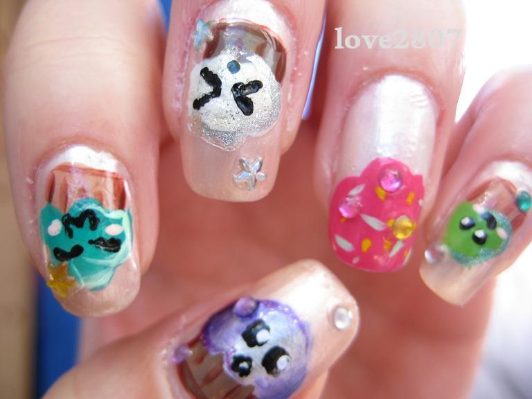 Image cupcake nail art design download