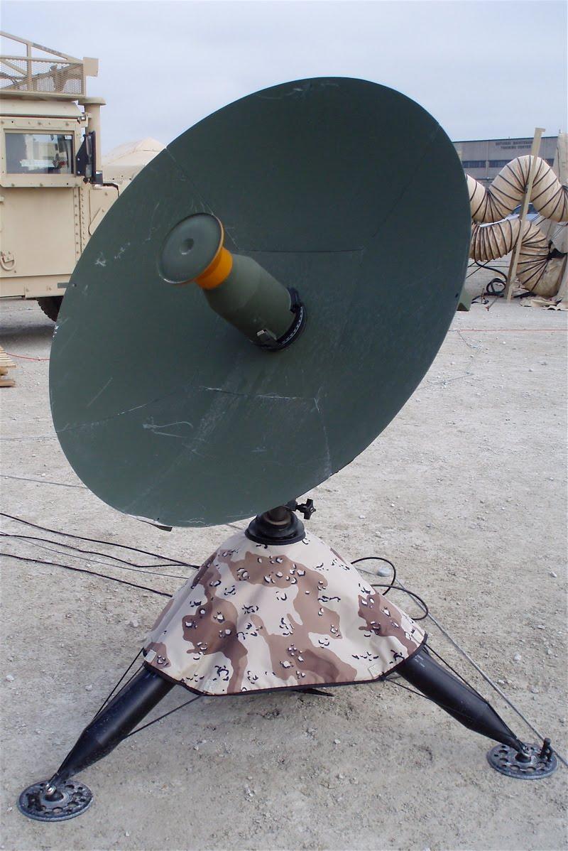Military satellite dish