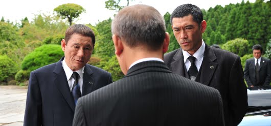 Takeshi Kitano y Tetta Sugimoto en 'Outrage'