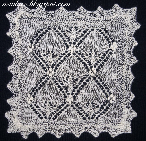 New lace - old traditions: 4. Checked waterlily 1: motif for shawls