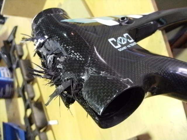 Carbon Fiber Bike Frame >> Busted Carbon: Before & After