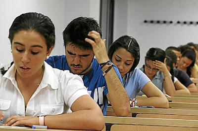examen acceso universidad: