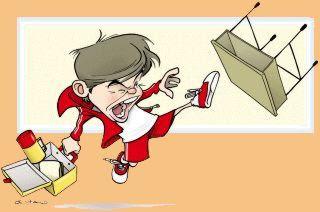 aluno agressivo Limites para crianças
