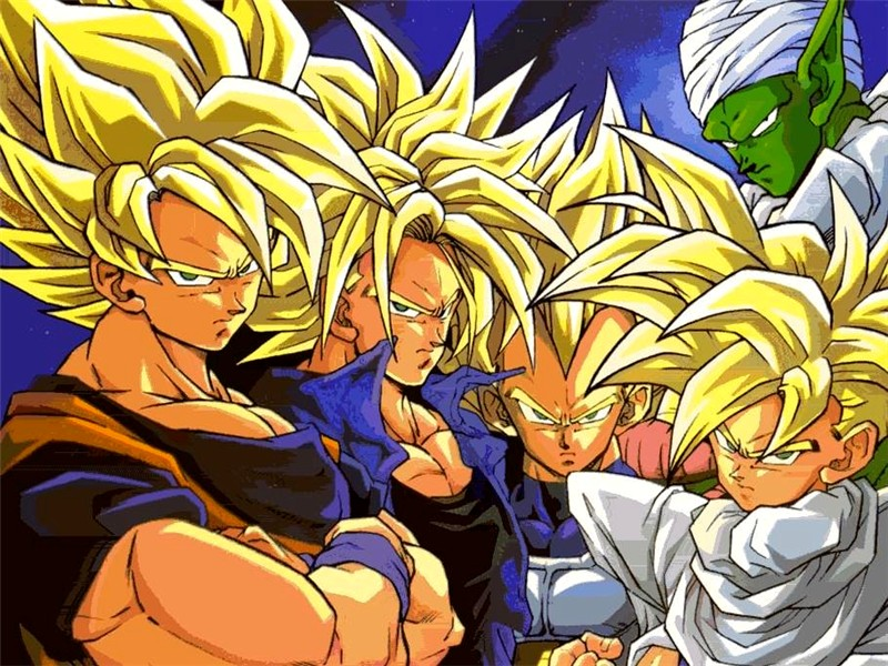 all super saiyan forms of goku. z vegeta super saiyan 5.