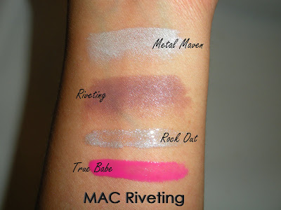 MAC+Riveting+Swatches MAC Spring Colour Forecast and Riveting Swatches