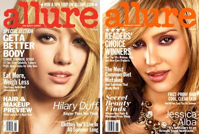 hilary+and+jessica+allure+covers Is Allure Magazine Losing Its Allure?