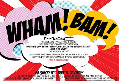 MAC+Friends+and+Family MAC Friends And Family: Knock 15% Off!!!
