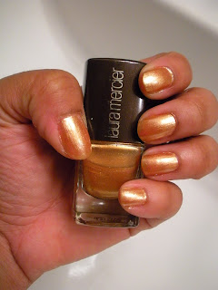 24+karat+005 80s Ladies Week: Laura Mercier 24 Karat Nail Lacquer is a Scene Stealer!