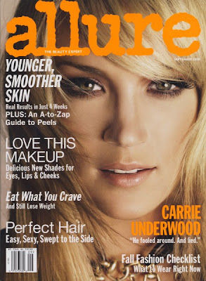 carrie+underwood+cover+allure Carrie Underwood Is Just Like Us: Shes a Makeup Junkie!
