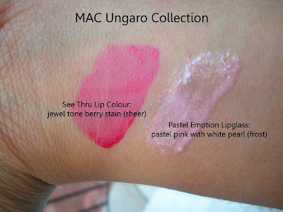 mac+ungaro MAC Ungaro, Cremesheen and Holiday Swatches