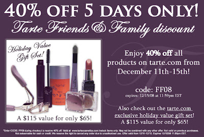 tarte+friends+and+family Tarte Friends and Family: 40% Off   5 Days Only!