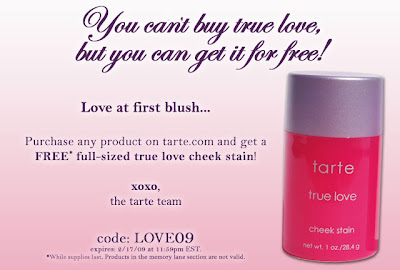 free+tarte+cheek+stain Get Tartes True Love Cheek Stain For Free