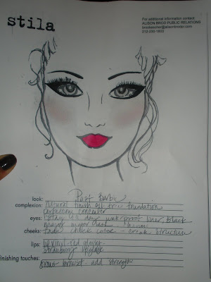 New York Fashion Week: Stila Face Charts for Barbie Runway Show
