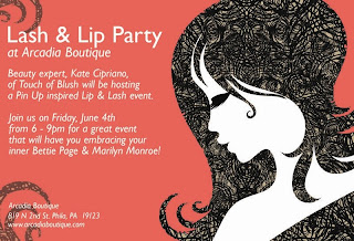 Arcadia Boutiques Pinup Lash & Lip Party and Art Show