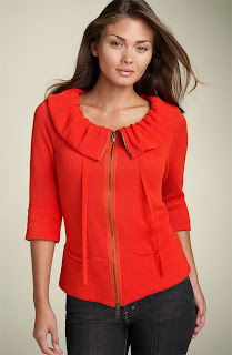 fever+sweater+coral Give Me Fever: Scrunch Collar Cardigan