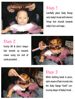 steps1 3 Baby Bangs: For The Girl Who Has Everything...Except Hair