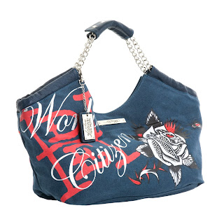 EDH150119913 blue s Ed Hardy Handbag and Scarf Sale at Ideeli.com