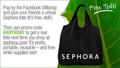 sephora+tote Free Earth Day Sephora Tote!