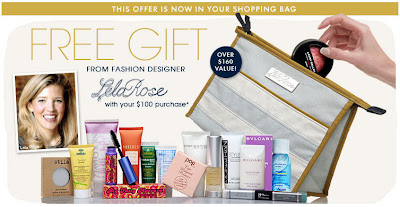 Lela+Rose+Beauty.com+Gift+With+Purchase Lela Rose Cosmetics Bag Filled with Goodies at Beauty.com